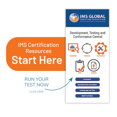 IMS Certification resource link button