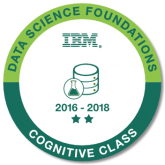 IBM Data Science Cognitive Class digital badge